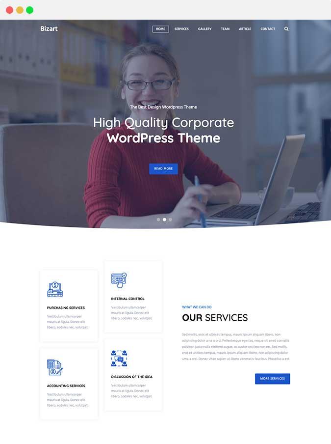 Bizart home page